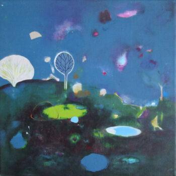 Helen Melland, Passing Through, acrylic, gouache and watercolour on linen, 40 x 40 cm