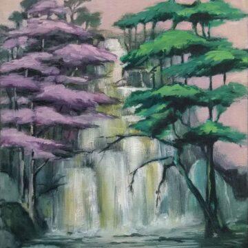 Annette Pugh, This Place, Far Away 1, oil on canvas, 30.5 x 35.5 cm