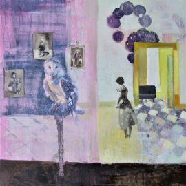 Pen Reid, Tethered, oil on linen, 50 x 60 cm