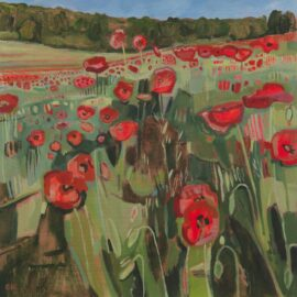 IV Ranscombe Farm Poppies, oil on canvas, 61 x 61 cm