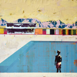 Dan Parry-Jones, Looking Towards the Mountains, 80 x 80 cm