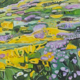 I Alderney Headland, oil on canvas, 51 x 51 cm