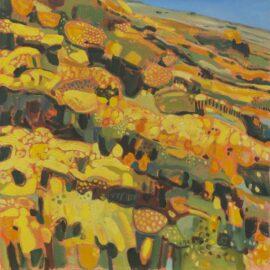 XI Wind across the Gorse, Menstrie Glen, Ochil Hills II, oil on canvas, 61 x 61 cm