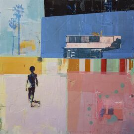 Dan Parry-Jones, Walking to the Beach, 60 x 60 cm