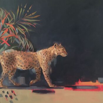 Cordelia Hutchison, Onça Pintada, oil on canvas, 60 x 60 cm