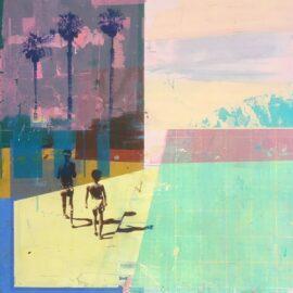 Dan Parry-Jones, Pool with Shadows, 60 x 60 cm