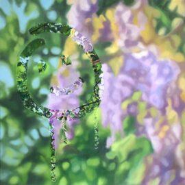 Lucy du Sautoy, Throwback Thursday II, oil on canvas, 60 x 60 cm