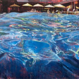 Lucinda Metcalfe, Making Waves, oil on canvas, 75.5 x 61 cm