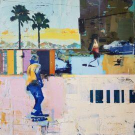 Dan Parry-Jones, Skateboarder, Two Palms, 80 x 80 cm
