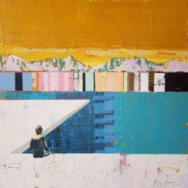 Dan Parry-Jones, Toes in the Water, 80 x 80 cm
